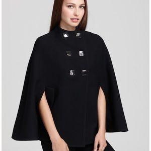 """Kate Spade """"Sophie"""" Black Wool Cape Jacket Coat"""